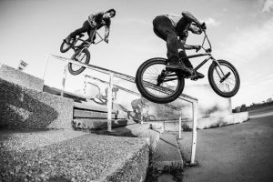 COREY MARTINEZ RIDING BMX IN MONTREAL FOR THE THREE DAY METRO PASS PROJECT